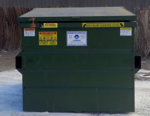 6 yard Dumpster 2